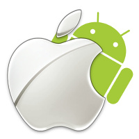 Android and Apple Logos